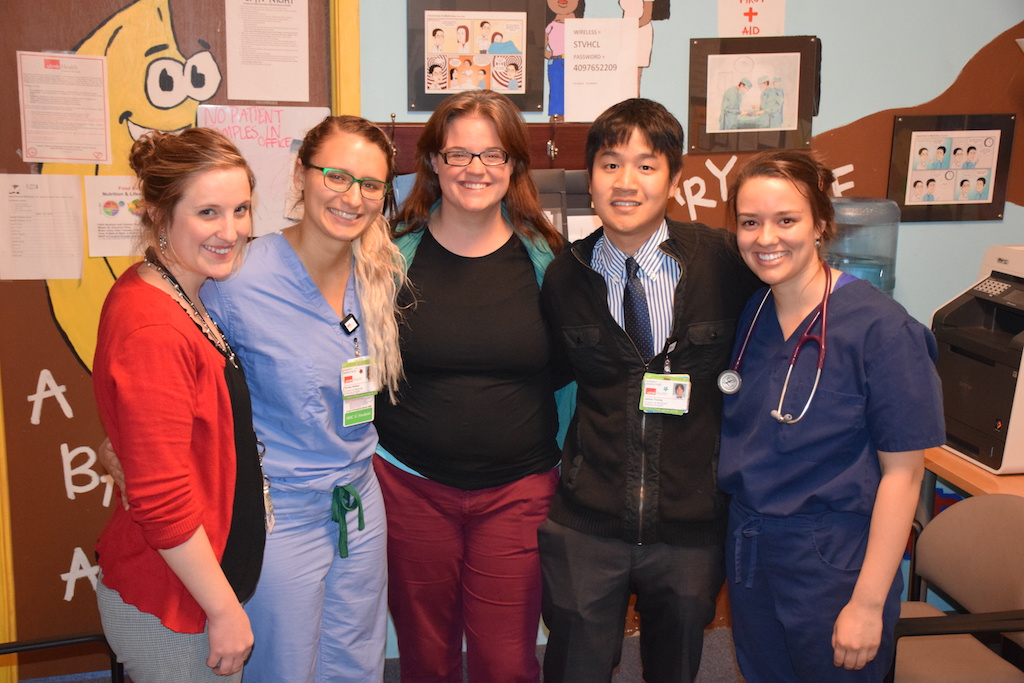 The patient assistance team (left-right): Laura Muruato, Ashley Halbert, Amerisa Waters, James Truong and Erin Dinehart. Not pictured: Adriene Eastaway, Atul Gupta and Russell Purpura.