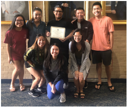 image of UTMB's Asian Pacific American Medical Student Association with their recent award