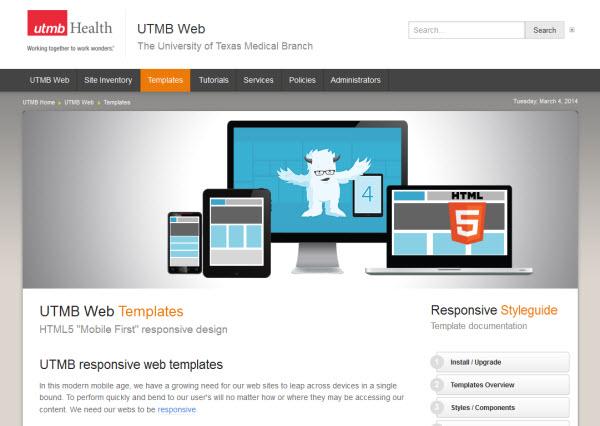 UTMB Modern Responsive Web Templates