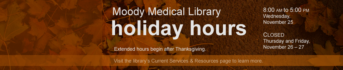 Thanksgiving Holiday Hours 2020