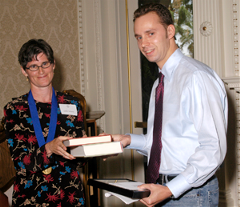 Jeffrey Eaton, 2005 BSH Essay Award Recipient. Presented by Dr. Judith Aronson