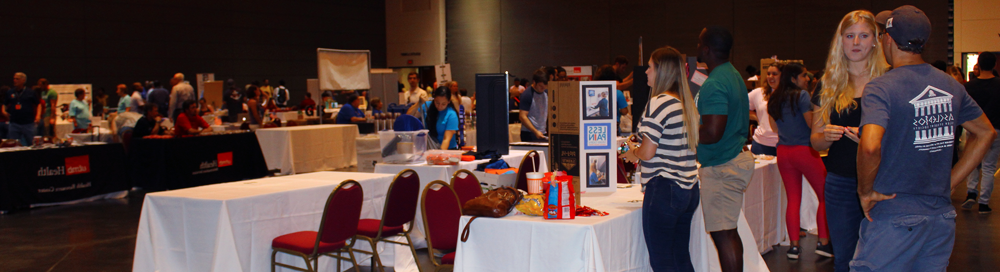 Students promote their organizations at the annual Community Fair