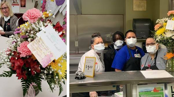 ADC Auxiliary delivers flowers