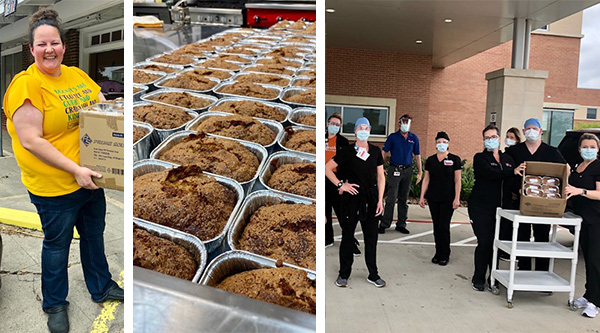 Chef Mary Bass donates banana bread