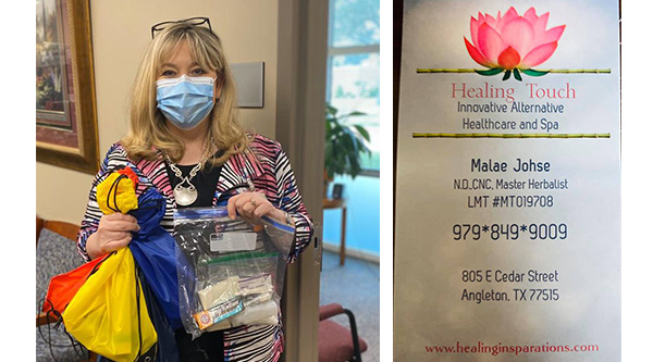 Healing Touch donated personal care items
