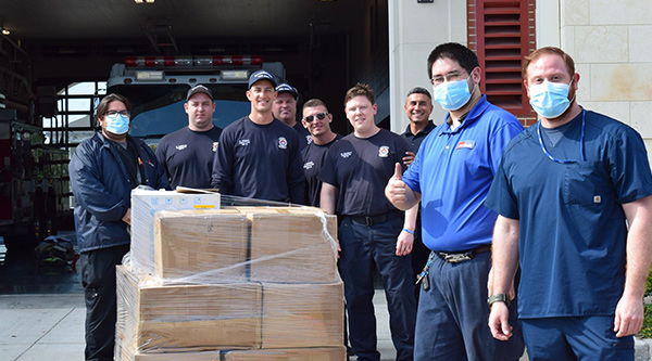 Supply Chain Services donated about 15,000 masks to the Galveston Fire Department