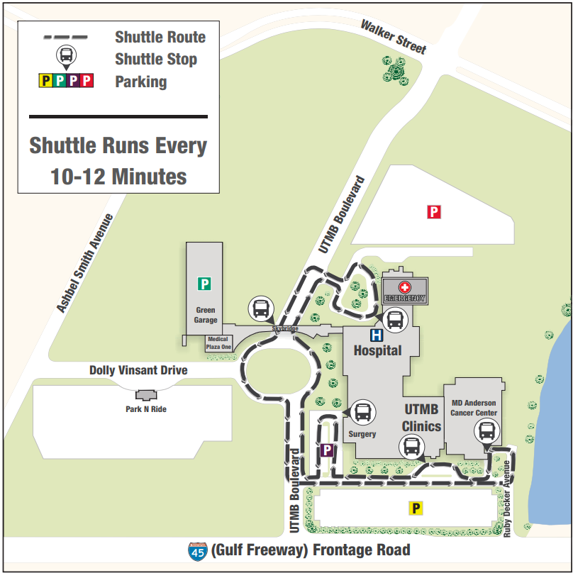 Parking and Shuttle, League City Campus