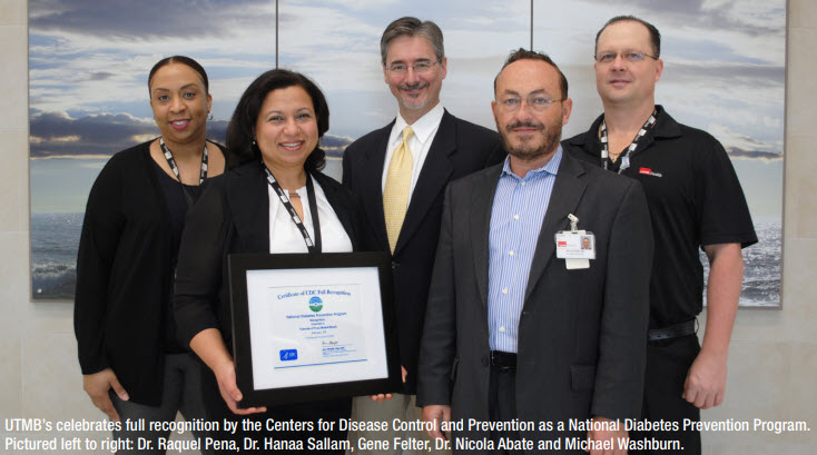 UTMB recognized as National Diabetes Prevention Program