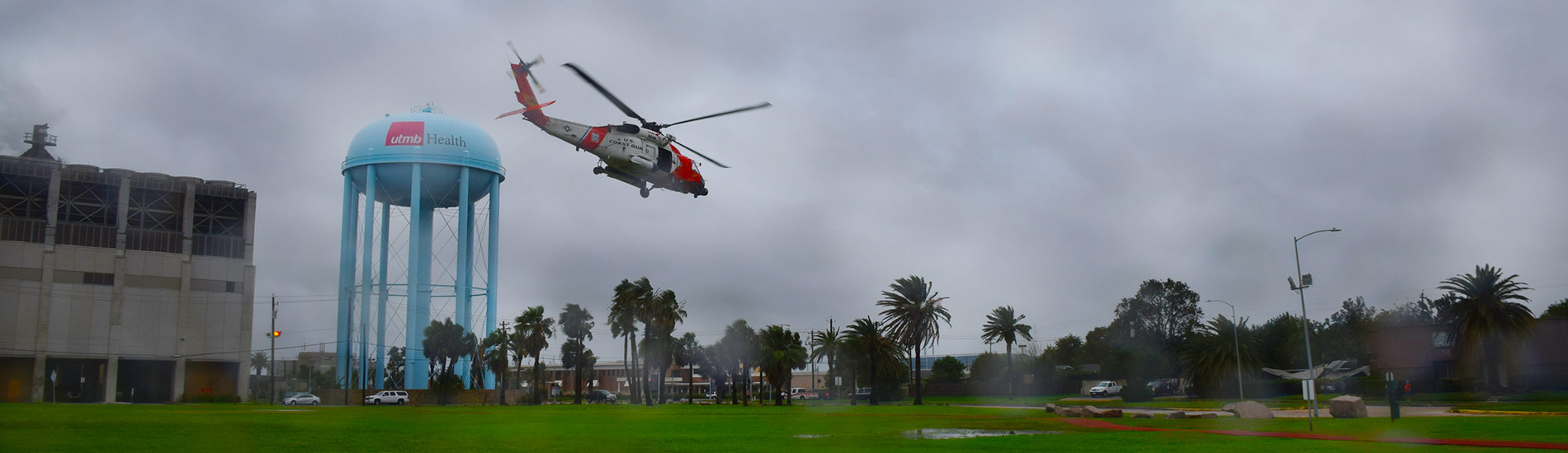 Helicopter Delivering Emergency Supplies