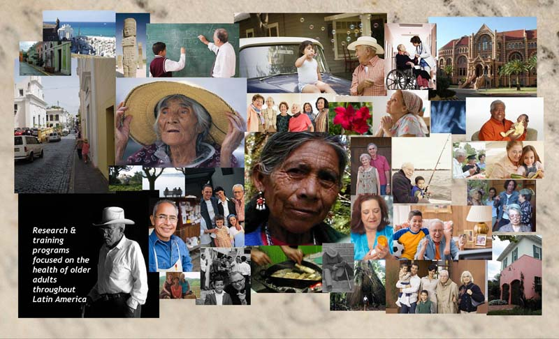 Collage photo of Hispanic older people and WHO PAHO activities