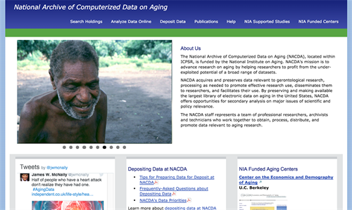 National Archive of Computerized Data on Aging website