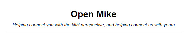 Open Mike Blog