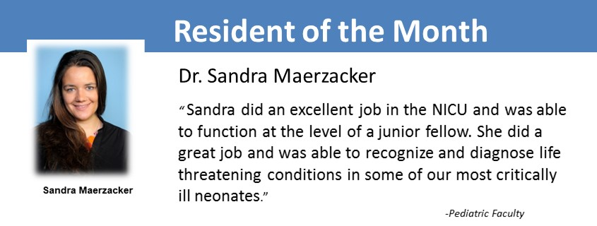 Resident of the month MayResident of the month May