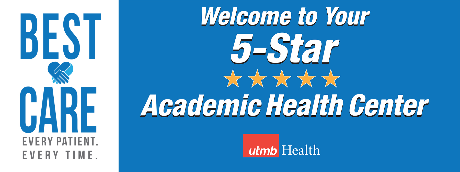Welcome to your 5-star academic health center (banner)